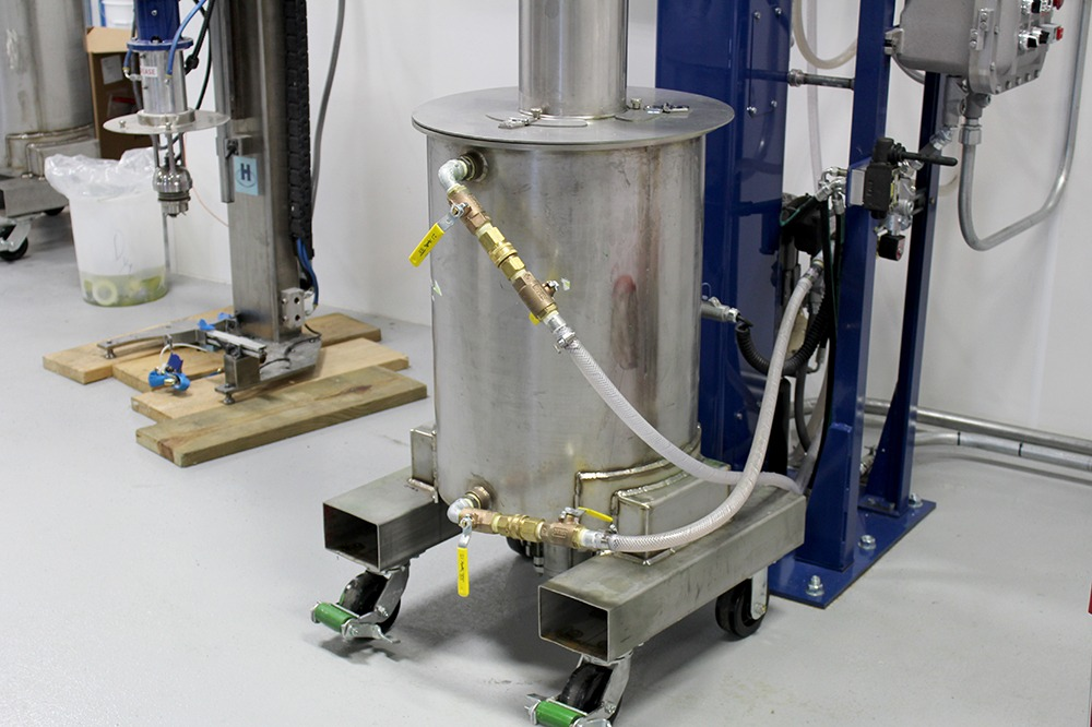 a stainless steel vat fabricated in PA