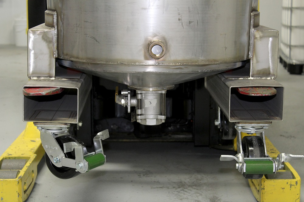 formed stainless steel cone vat